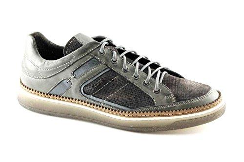 dentelle LION gris chaussures pour hommes occasionnels en cuir 11121 Grigio