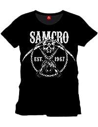 Sons of Anarchy Chain Gang T-Shirt Samcro Reaper Club de Bikers Charming Biker Noir