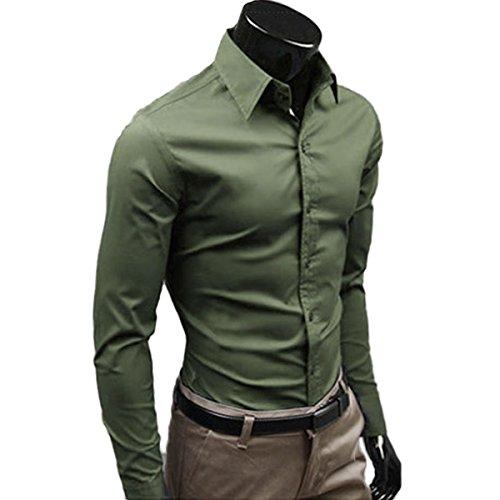Lanmworn uomo 17 colori cotone non-ferro camicia attività commerciale vestito camicie,formali regolare in forma pulsante giù classico manica lunga shirt.