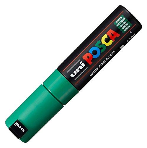 Uni-Ball M PC8K B Marcatore Uni Posca a Tempera, a Scalpello, 8 mm, Verde Scuro
