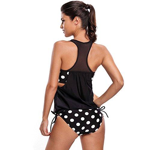 Erica Frauen-Strand-Bänder Bikinis Zwei-Stück-Set Badeanzug Polka Dots Streifen Patchwork Wireless Gepolsterte BH #2