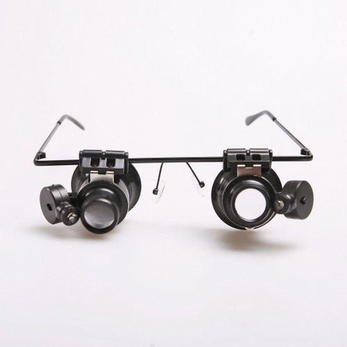 atoplee 2Eye Glas Lupe Juwelier 20x Lupe Lupe mit LED-Licht Uhr Reparatur Neu (Ge-elektronik-uhr)