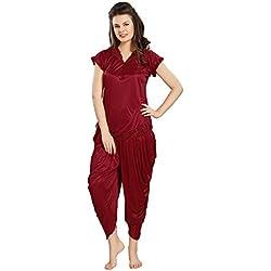 AV2 Women Satin Top & Pyjama Set
