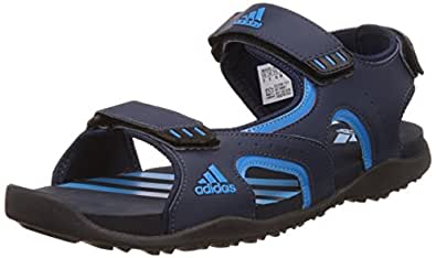 adidas Men's Brian 1.0 Blue, Dark Blue and Black Athletic & Outdoor Sandals - 12 UK