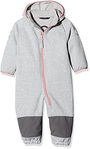 mikk-line Baby-Mädchen Jacke Strick-Softshellanzug (Wassersäule 8.000) Grau (Dusty Rose 516), 104