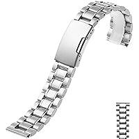 Time4Deals® 18 20 22 24mm orologio da polso bracciale cinturino in acciaio inox distribuzione chiusura Speed Master (Argento, 22MM) - Speed acciaio