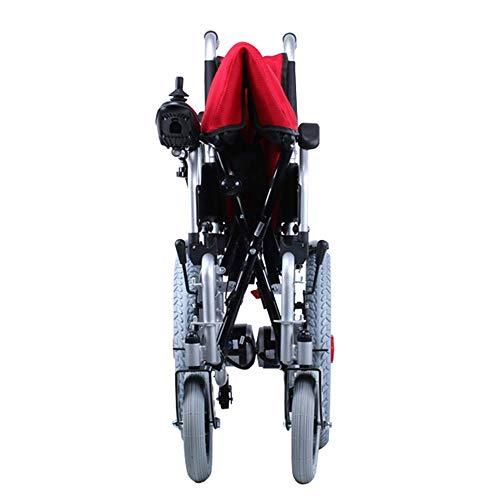410KL81r%2BKL - MJY Batería de litio Silla de ruedas eléctrica Plegable Ligero Portátil Doble uso Pequeño Compacto Silla de ruedas ultraligera fgj