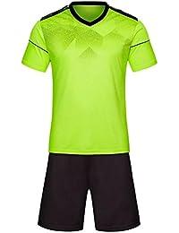 ZEVONDA Hombres y Niños Camiseta de Fútbol de Manga Corta + Shorts Kit de Entrenamiento