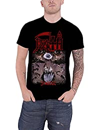 Death T Shirt Symbolic Eye Classic Band Logo Official Mens Black