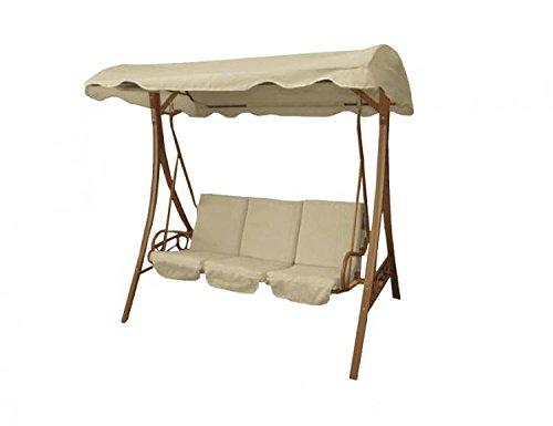 Dondolo da giardino 3 posti altalena per esterno c cuscini tettuccio mobili da giardino - Altalena da giardino amazon ...