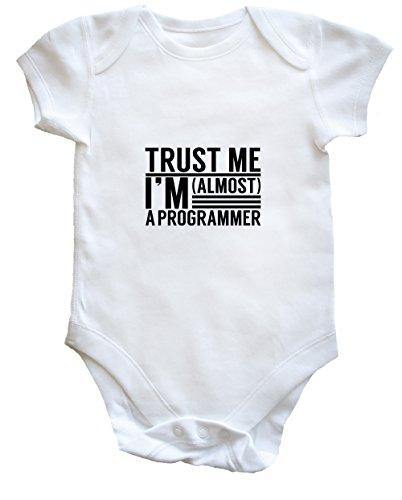 Hippowarehouse Trust me I'm Almost a Programmer Baby Vest Bodysuit (Short Sleeve) Boys Girls