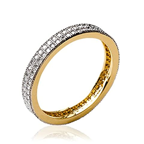 ISADY - Venla Gold - Bague femme - Plaqué Or 750/000 (18 carats) - Oxyde de Zirconium