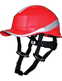 Delta Plus Venitex Baseball Diamond V Up Hard Hat Safety Helmet Bump Cap With Harness PPE (Red) by Delta