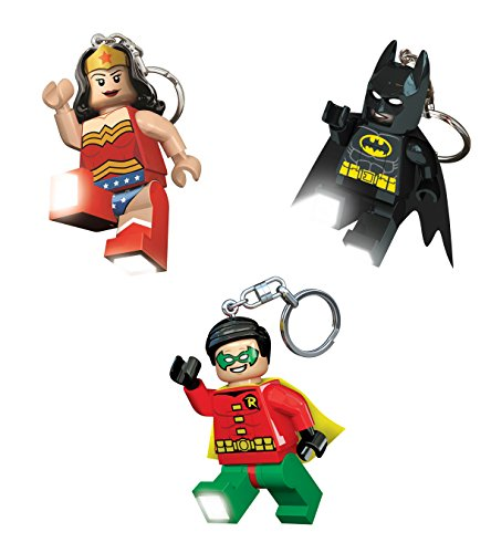 Lego Lights DC Super Heroes Batman/Wonder Woman/Robin Key Lights (Pack of 3)