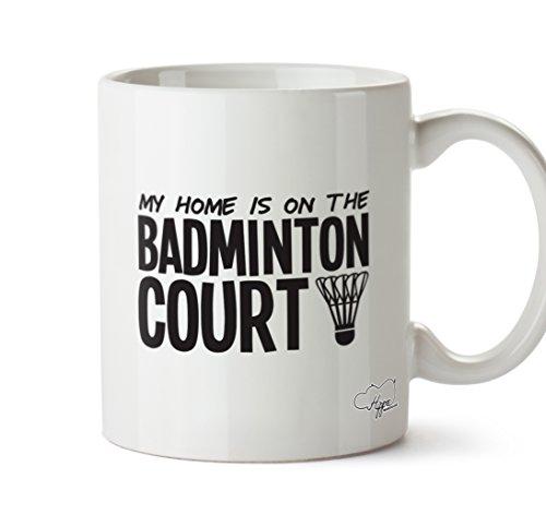 hippowarehouse My Home ist auf der Badminton Court 283,5Tasse, keramik, weiß, One Size (10oz)