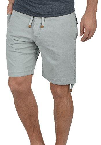 Indicode Moses Herren Leinenshorts kurze Leinenhose Bermuda Mit Kordel Regular Fit, Größe:3XL, Farbe:Light Grey (901)