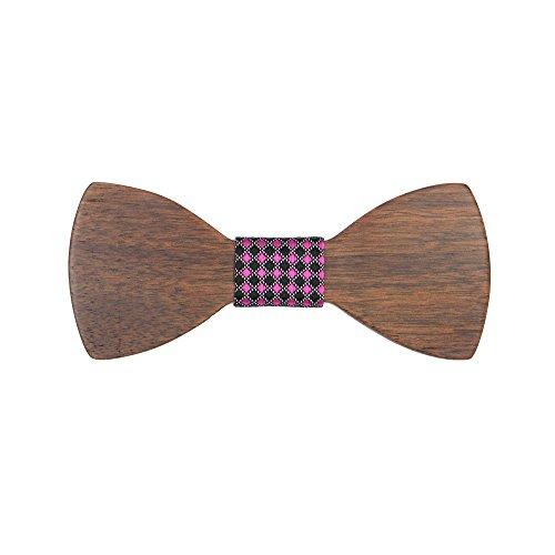 Meijunter D-D40 Cravate en Bois pour Hommes WT01-1