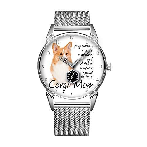 Mode wasserdicht Uhr minimalistischen Persönlichkeit Muster Uhr -201. Corgi MOM Watch (Mom Uhr)