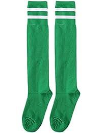 chenpaif Niños Professional Soccer Socks Pura Color Rodillera Gran Toalla de Manos de fútbol Calcetines Azul