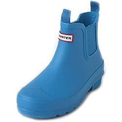 Hunter - Botas de Caucho para niña Azul Blau (Twilight), Color Azul, Talla 34 EU
