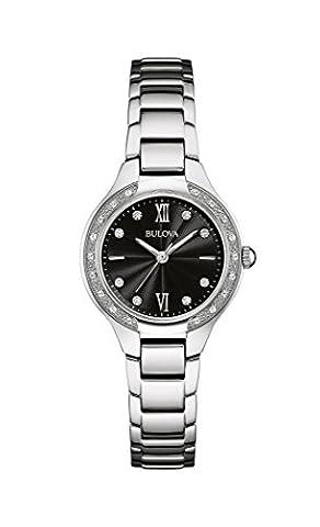 Bulova Damen-Armbanduhr Diamonds Analog Quarz Edelstahl 96W207