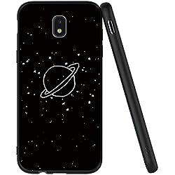Yoedge Coque Samsung Galaxy J5 2017, Etui en Silicone avec Noir Motif Design Antichoc Housse de Protection Flim TPU Gel Case Cover Coque pour Telephone Galaxy J5 2017 5,2 Pouces, Plantes