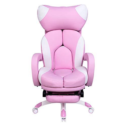 YANGAC Gaming Chair Girl Video Office Desk Chair Reclining Sports E-Sports Juego...