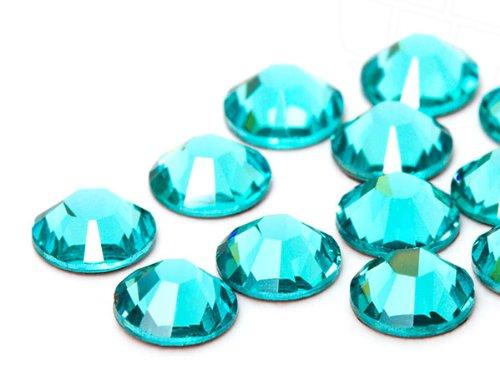 Strasssteine Hotfix von Swarovski Elements / SS16 (3.9mm), Light Turquoise, 100 Stück (Kristalle Von Swarovski Flatbacks)