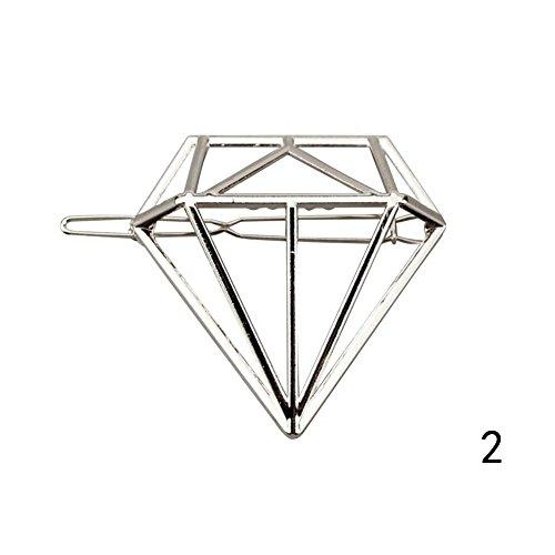 Cool Ring Vintage Damenmode Design Haarnadeln Elegante Damen Haarspangen Ast Feder Diamant Stylish Hair Pin (B)