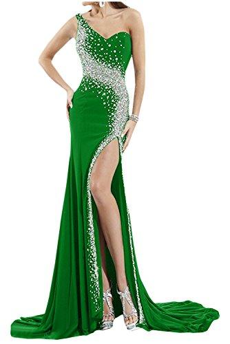 Toscana sposa bianchissima Rueckenfrei kraftool Chiffon sera abito lungo un'ampia Party ball vestimento Verde
