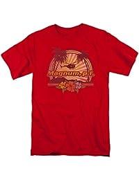 Magnum P.I. PI Hawaiian Sunset Vintage Style NBC 80s TV Show T-Shirt Tee