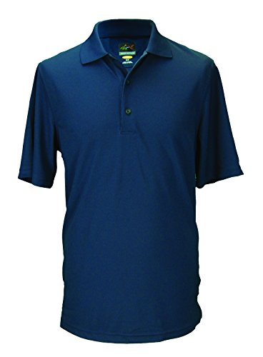 Greg Norman Herren Poloshirt aus Technogewebe Chest Stripe Blau - Polar/White