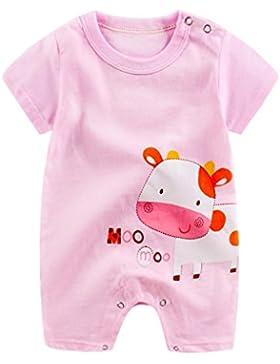 Omiky® Säuglingsbaby-Mädchen-Karikatur-Spielanzug-Niedlicher Overall-kletternde Kleidung