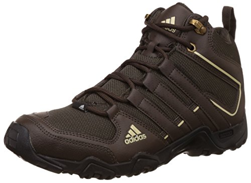 adidas Men's Aztor Hiker Mid Black, Brown and Red Trekking and Hiking Footwear Boots - 8 UK