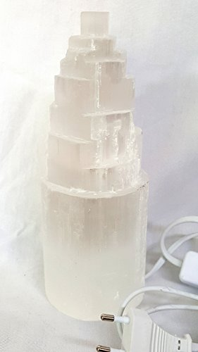 Lampe Selenit ca. H 40cm