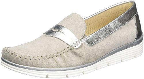 Gabor Shoes Damen Comfort Mokassin, Grau (Grau/Silber 49), 42 EU
