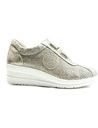 Sneakers bianche con chiusura velcro per donna Minetom