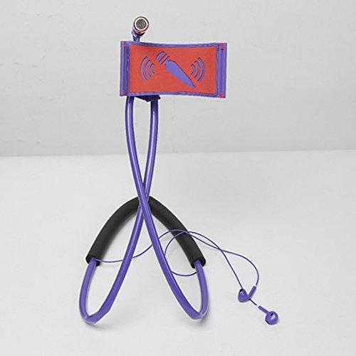 Selfie anello luce con porta cellulare stand Live Broadcast supporto supporto per telefono cellulare pigro staffa flessibile Supporto per tablet da appendere al collo, viola