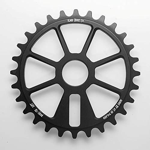 RMD BIKE CO. Unisex– Erwachsene FC UP kettenblatt BMX MTB Dirt | 28T | Schwarz | Made in EU |, Black