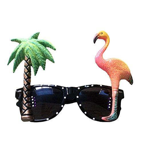 Pengyu Creative Flamingo Brille Kostüm Brille Kinder Erwachsene -