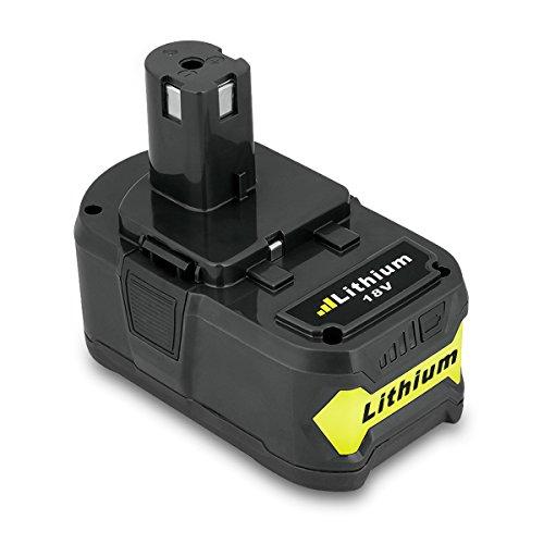 FLOUREON 18 V 4.0Ah Li-ion Ersatz Akku für Ryobi one + P108 P104 P105 P102 P103 P107 P108 +18V Cordless Drill Power Tool Bohrschrauber Ryobi 18 Volt Drill Battery