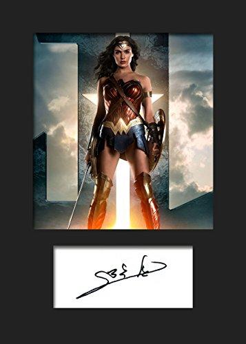 GAL Gadot, Wonder Woman #1 | Signierter Fotodruck | A5 Größe passend für 6x8 Zoll Rahmen | Maschinenschnitt | Fotoanzeige | Geschenk Sammlerstück