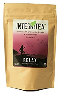 RELAX (Organic Loose Leaf Rosehips, Hibiscus, and Chamomile) 2oz