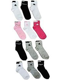 Chaussettes sport femme Kappa tige 2/3 taille 36/41 lot de 12 couleurs assorties selon arrivage