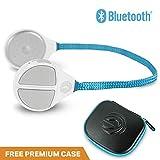 Alta Drahtloser Bluetooth-Helm Drop-In-Kopfhörer-HD-Lautsprecher Kompatibel mit jedem Audio-Ready-Ski / Snowboard-Helm-3-Tasten-handschuhfreundliche Bedienelemente mit Mikrofon für Freisprechanrufe.