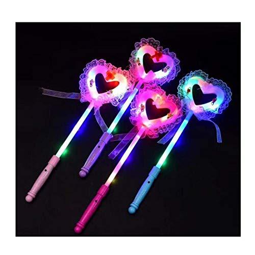 Black Temptation LED-Licht Liebe Herz geformt Stick Fairy Light Magic Sticks Mädchen Spielzeug (4Pcs)