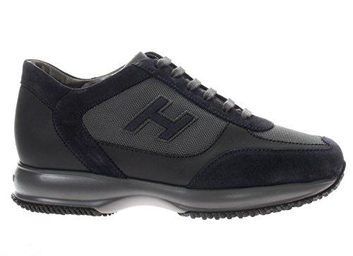 Hogan Uomo Sneaker Hxm00n0v540e1c710q New Interactive H Vintage Etich Grigio blu