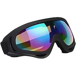 Vicloon Lunettes de Ski Masques Snowboard,Motoneige Moto Lunettes Ski Goggles Protection Lunettes Lens Anti-poussière, UV Protection,Anti-Buée, Coupe-Vent pour Garçons et Filles, Hommes & Femme