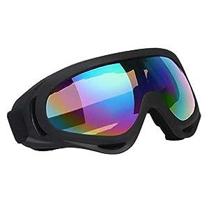 Vicloon Skibrille, Ski Snowboard Brille, UV-Schutz Goggle, Motocross Brille Helmkompatible, Anti-Fog Skibrille, Sportbrille für Skifahren Motorrad Fahrrad Skaten, Unisex