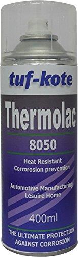 tufkote thermolac 8050 heat resistant corrosion prevention, aluminium spray 400ml Tufkote Thermolac 8050 Heat Resistant Corrosion Prevention, Aluminium Spray 400ml 410KXtKIHwL